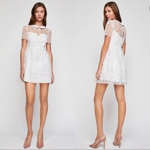 NWT BCBGeneration White Embroidered Organza Dress